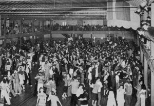Dancers at the Rendevous Ballrooom - Balboa was designed for crowded dance floors.