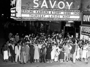 Dancers outside the Savoy Ballroom