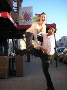 Catrine & Nathan Frog Jump