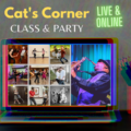 Cat's Corner weekly classes and parties are live and online starting Wednesday, August 5th!